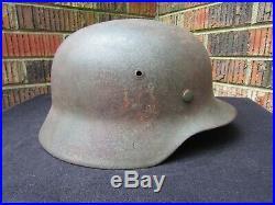 Original WWII WW2 German Helmet M35- NS68 D113