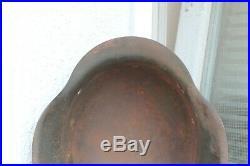 Original WWII WW2 Old German Rare Helmet Marked