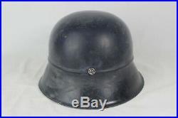 Original World War 2 German M42 Beaded Civil Defense Helmet Q66