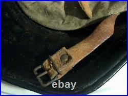 Original Ww2 German Helmet With Liner & Chinstrap Wwii