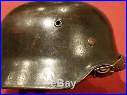 Original Ww2 German M40 Helmet Et66 Stahlhelm Named
