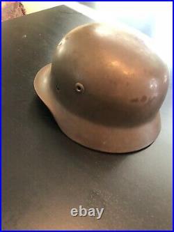 Original Ww2 German M40 Helmet Quist Q62 Dn159