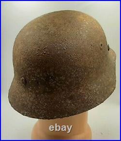 Original rare German WW2 helmet with original comforter