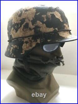 Original single German WW2 Wehrmacht M40 helmet ET66 shell 58 cm liner & strap