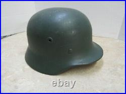 Post WW2 West German M40/52 Helmet Baden-Wurttemberg Police Decal Scratched Off