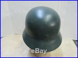 Post WW2 West German M40 / M52 Helmet Police Polizei Linnemann & Schnetzer