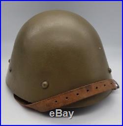 Pre WW2 Czech M32 Army Helmet German Luftschutz Repurposed + Liner & Chinstrap