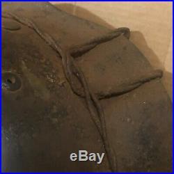 Rare All Original Ww2 German M35 Decal Wire Helmet