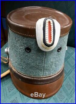 Rare German WW2 1936 Hans Romer Helmet Cap Military Police Officer Shako Ruger