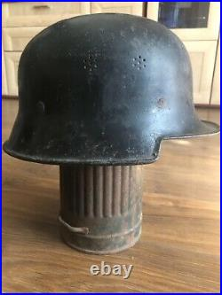 Rare German WW2 Helmet Bahnschutzpolizei