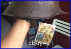 Rare Original Beautiful WW1 German Helmet M16 used in WW2 To