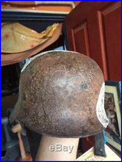 Rare Quality WW2 German Special Troops M-35/40 Helmet with Certificate