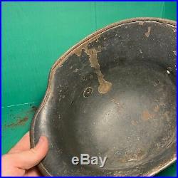 Rare WW1/WW2 German M18 Transitional Single Decal German Army Helmet