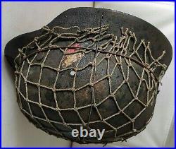 Restored original German Helmet M35 EF68 WW2 Wehrmacht Original Dug relic