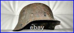Restored original German Helmet M42 NS66 Camo WW2 Wehrmacht Original Dug relic