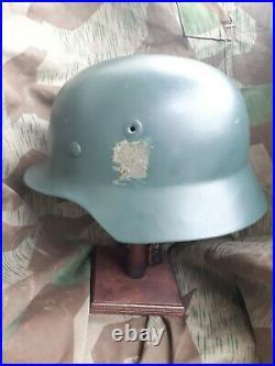 Stahlhelm M40 POLIZEI BGS HELM WEHRMACHT FORM BEPO WW2 German Police Helmet