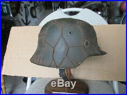 Stamped M42 German SD Camo Helmet Liner Chin Strap Military WW2 Badge Medal Pin