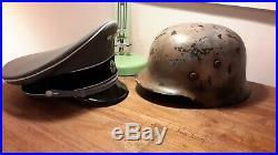 Theatre/Movie props WW2 German Elite Helmet and cap