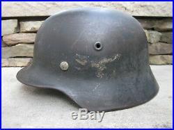 Untouched Original Ww2 M40 German Helmet