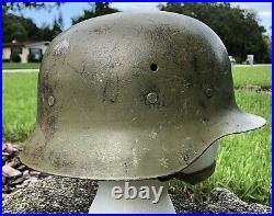VTG/M42 Spanish Modelo Helmet & Leather liner WW2 German war Front Badge Holder