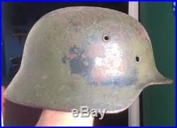 Very Beautiful Original German WW2 M-35/40 Helmet Marked ET 66