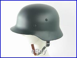 Very Good WW2 German M35 Steel Helmet Field Gray Best Replica Helmets New
