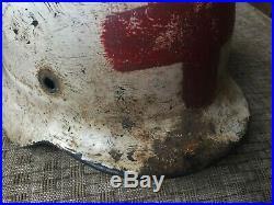 Very Rare Original German Ww2 M40 Et64 Beaded Medics Helmet