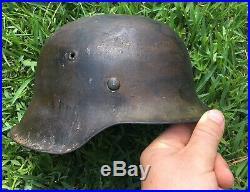 Vet Bringback WW2 German M42 Camouflage Helmet M35 M40 Flag Medal Iron Cross
