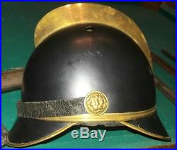 WW1 German Bavarian Fire brigade helmet, Brought back from WW2