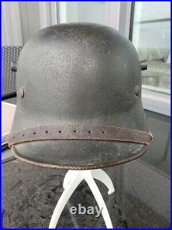 WW1 Imperial German M18 helmet restored As a WW2 Transitional Heer SD