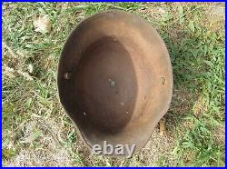 WW1 WW2 Original-Authentic-Relic German 16 helmet Wehrmacht TH- 66