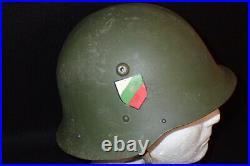 WW2 Bulgarian M. 36 German Type Army Helmet with Liner & Original Decal Scarce VF