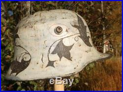 WW2 Finnish Winter War Medic M18 Steel Helmet WW1 German Stahlhem Camo Casque