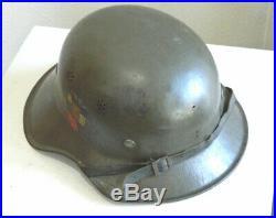 WW2 GERMAN-BULGARIAN Luftschutz GLADIATOR Helmet Made in Germany 1943