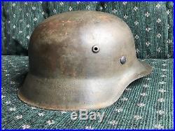 WW2 GERMAN HELMET M42 ELITE reverse decal