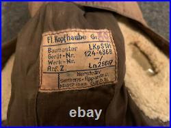 WW2 GERMAN LKpS 101 Luftwaffe FLYING PILOT Flight Helmet HAT SIEMENS Sz 59