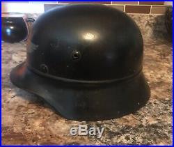 WW2 GERMAN Luftwaffe Helmet COMPLETE AND ALL ORIGINAL Private Strobel