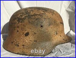 WW2 GERMAN M40 NORMANDY CAMO HELMET with ALLIED NET