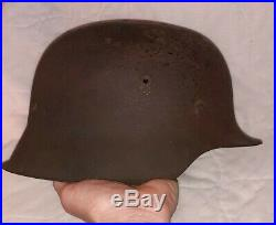 WW2 GERMAN M42 HELMET. Original Felt Headband WithOut Lining