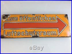 WW2 German Adolf Hitler Luftschutz Sign Obersalzberg Berghof Helmet Elmetto