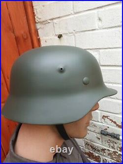 WW2 German Army M40 Steel Helmet Stalhelm NEW REPRODUCTION 57/58cm Airsoft