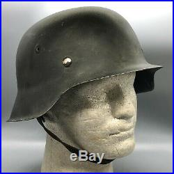 WW2 German Army M42 Helmet CKL66 Complete Weathered Restoration