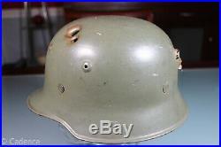 WW2 German Civil Or Parade Helmet With Shrapnel Or Bullet Hole Damage. Neat Piece