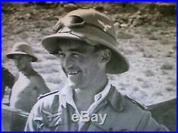 WW2 German DAK Luftwaffe tan pith helmet hat