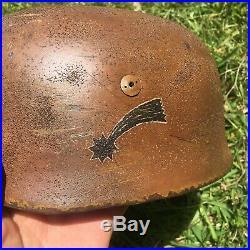 WW2 German Helmet 38 Paratrooper Afrika Crete Size 71 M35 M42