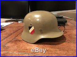 WW2 German Helmet DAK Original Liner Chinstrap Named M40
