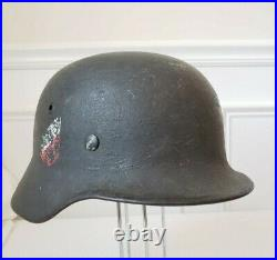 WW2 German Helmet Heer M40 Double Decal Stahlhelm WWII with liner EF66
