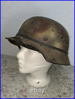 WW2 German Helmet M35 Normandy Camo Free Ship and Free Foliage Band