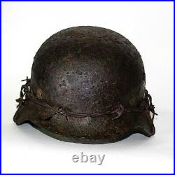 WW2 German Helmet M35 Size 60. The Battle for Stalingrad. World War II Relic