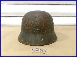 WW2 German Helmet M35 Wehrmacht Stahlhelm M35 original equipment dug relic liner